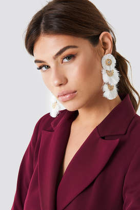 Na Kd Accessories Round Fringy Oversize Earrings