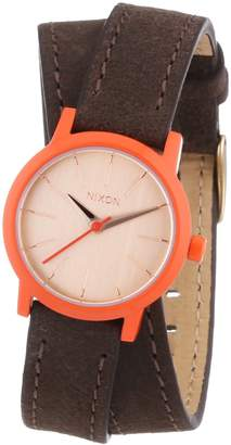 Nixon Women's Kenzi A4031655 Brass Leather Quartz Watch