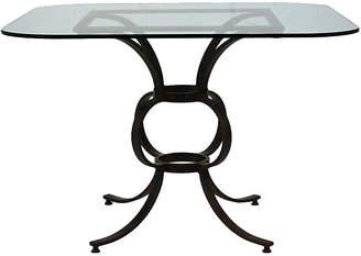 One Kings Lane Vintage Antique Wrought Iron Patio Table - Castle Antiques & Design