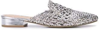 Sam Edelman Clara metallic woven mules