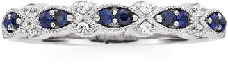 JCPenney MODERN BRIDE I Said Yes Genuine & Lab-Created Blue Sapphire Vintage-Style Band