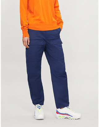 Maje Hibi high-rise cotton-twill trousers