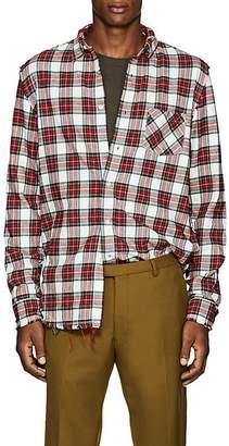 R 13 Men's Cotton Flannel Shredded Seam Shirt