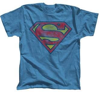 DC Superman Basic Logo Men's Short Sleeve Graphic T-shirt, up to Size 3XL