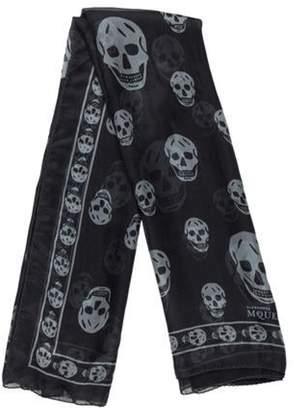 Alexander McQueen Silk Skull Scarf Black Silk Skull Scarf