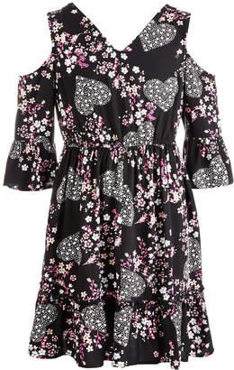 Epic Threads Big Girls Crochet-Trim Floral-Print Dress, Created for Macy's
