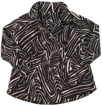 Woven Cotton & Lurex Coat