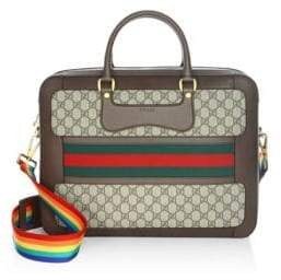 Gucci GG Supreme Briefcase with Web