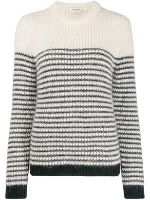 Saint Laurent Thick Knit Striped Sweater