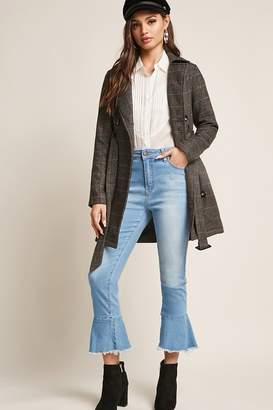 Forever 21 Flounce-Hem Ankle Jeans