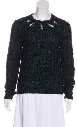Tory Burch Embellished Long Sleeve Sweaters