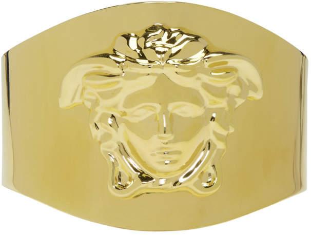 Gold Medusa Cuff Bracelet