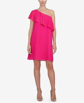 CeCe One-Shoulder Ruffle-Trimmed Dress $129 thestylecure.com
