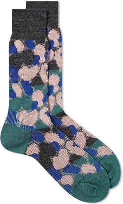 Ayame Socks Paneled Camouflage Sock