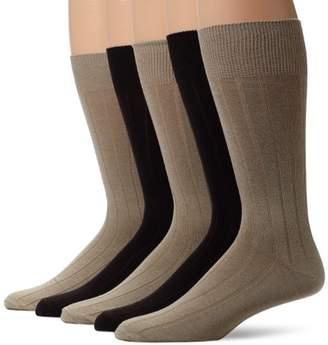 Dockers 5 Pack Classics Classic Rib Crew Socks