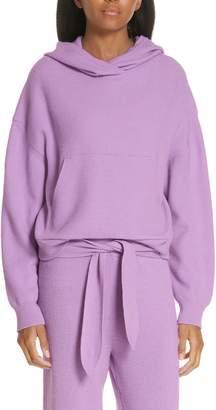 Nanushka Merino Wool & Cashmere Blend Crop Hoodie