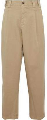 RED Valentino Cropped Cotton-Blend Twill Straight-Leg Pants