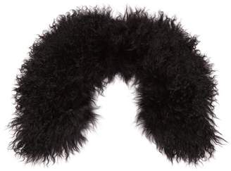 Yves Salomon Wool Collar Scarf - Womens - Black