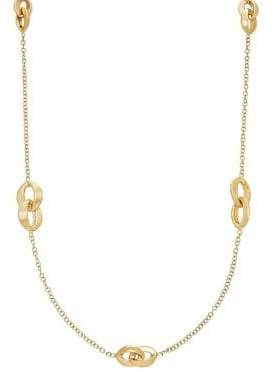 Lord & Taylor 14K Gold Interlock Chain Necklace