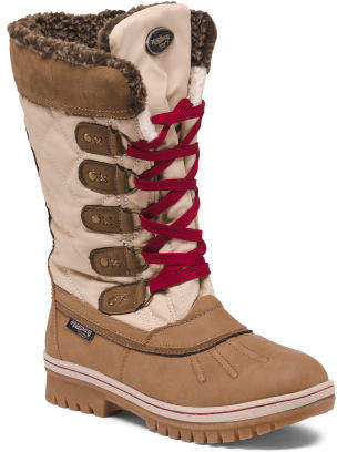 Weatherproof Faux Fur Lined Cold Weather Boots
