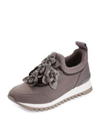 Tory Burch Blossom Neoprene Sneaker, Cloud Gray $295 thestylecure.com