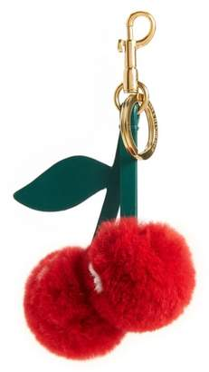 Anya Hindmarch Cherry Genuine Rabbit Fur Bag Charm