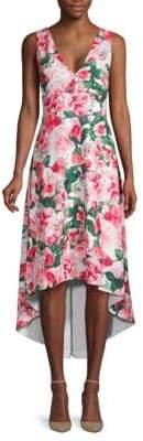 Calvin Klein Floral High-Low Flare Dress