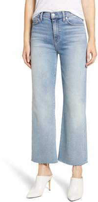 7 For All Mankind Alexa Frayed Hem Crop Wide Leg Jeans