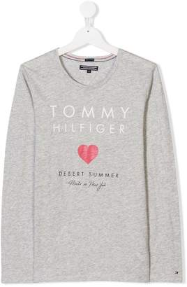 Tommy Hilfiger Junior TEEN long-sleeved logo T-shirt