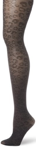Nine West Women's Leopard Lurex Sheer Tight