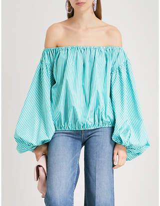 Caroline Constas Andros striped stretch-cotton top