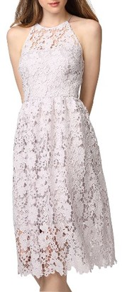 Women's Donna Morgan Chemical Lace Fit & Flare Midi Dress $148 thestylecure.com