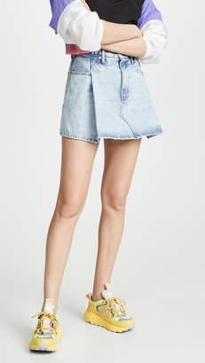 Alexander Wang Denim x Pleated Miniskirt