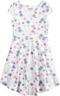 Girls 4-10 Jumping BeansPrinted Circle Hem Dress
