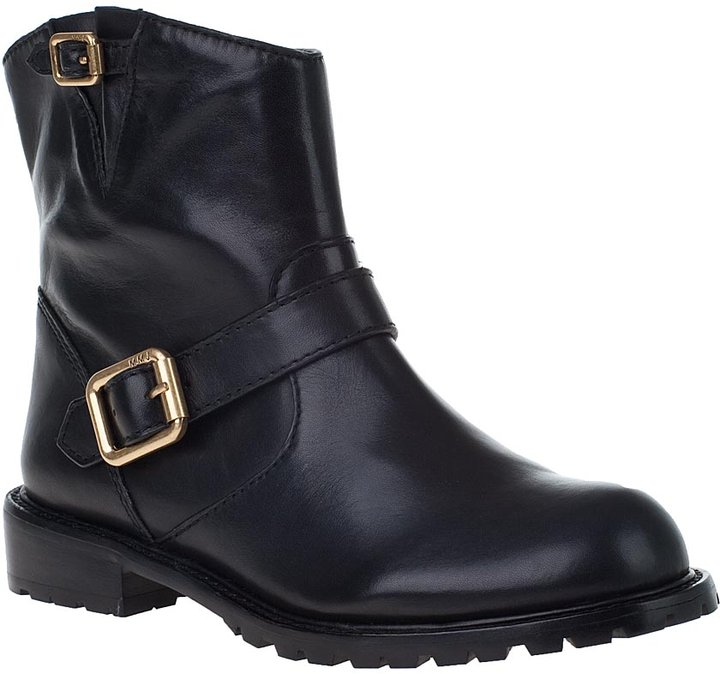 MARC BY MARC JACOBS 636252 Biker Boot Black Leather