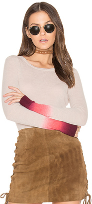 Autumn Cashmere Dip Dye Sweater in Beige $297 thestylecure.com