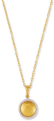 Gurhan Round Glow Lentil Pendant Necklace with Diamonds