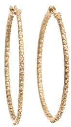 Armenta Oval Eternity Diamond Hoops - Yellow Gold