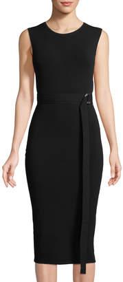 Michael Kors Sleeveless Belted Sheath Dress