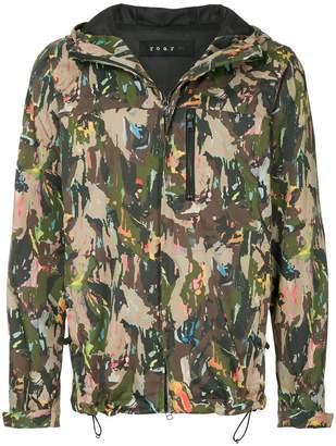 Roar printed hooded jacket