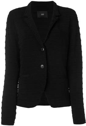 Steffen Schraut single button ribbed jacket