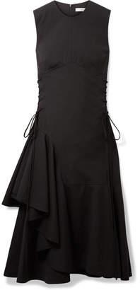 DAY Birger et Mikkelsen ADEAM Asymmetric Lace-up Wool-blend Midi Dress