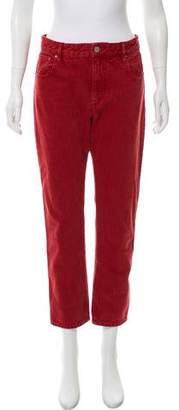Etoile Isabel Marant Mid-Rise Straight-Leg Jeans