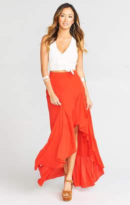 Show Me Your Mumu Salsa Skirt ~ Tequila Sunrise Crisp