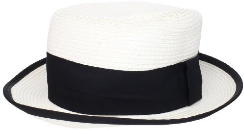 BCBGeneration Women's Bold Ribbon Boater Hat