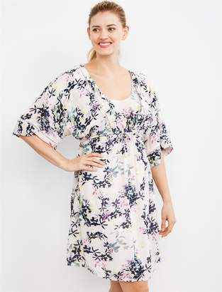 4b0f422911cb9 Motherhood Maternity Jessica Simpson Pull Over Kimono Nursing Dress