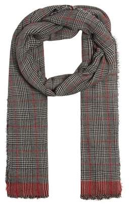 Violeta BY MANGO Fringed check scarf