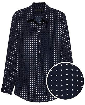 Banana Republic Petite Dillon Classic-Fit Polka Dot Shirt