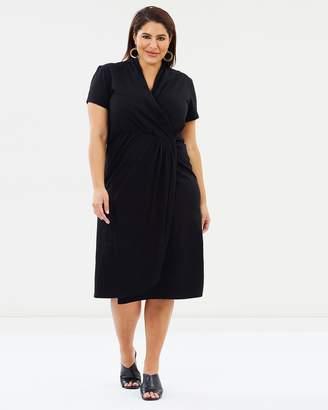 Harper Midi Wrap Dress