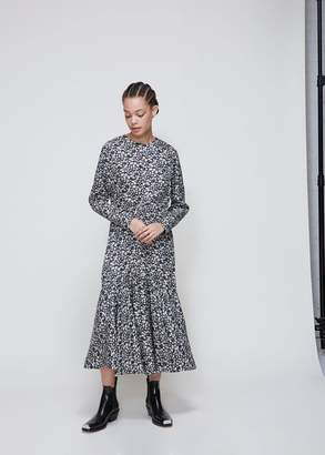 Calvin Klein Daisy Print Long Sleeve Dress